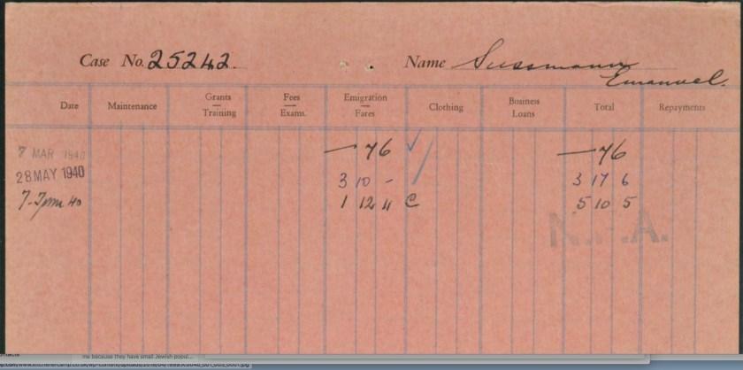 Richborough transit camp, Emanuel Süssmann, German Jewish Aid Committee, page 3