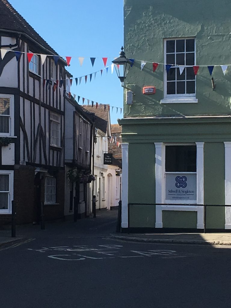 Richborough Jewish refugee transit camp, Sandwich historic town centre, 2018
