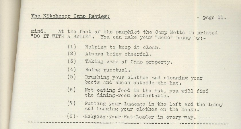 Kitchener Camp Review, April 1939, page 11, top