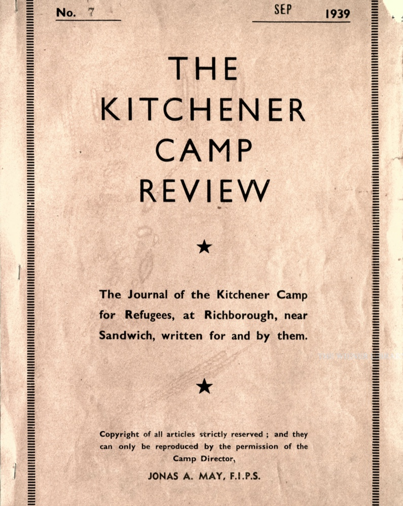 Kitchener Camp Review, no. 7, September 1939, front cover