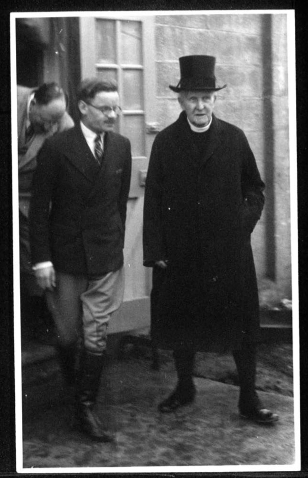 Kitchener camp, Archbishop of Canterbury and Jonas May, Kitchener camp director, 1939