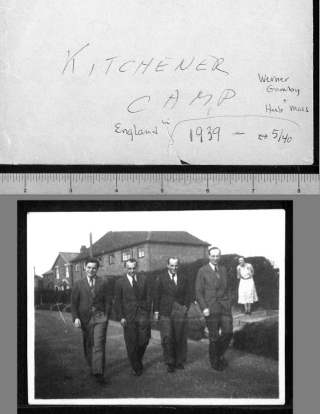 Kitchener camp, Werner Gembicki, Photo, Herbert Mosheim, In England 1939 to May 1940