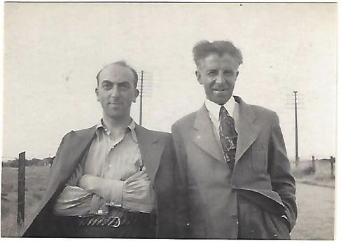 Kitchener camp, Manele Spielmann, With a friend called Katz, 1939