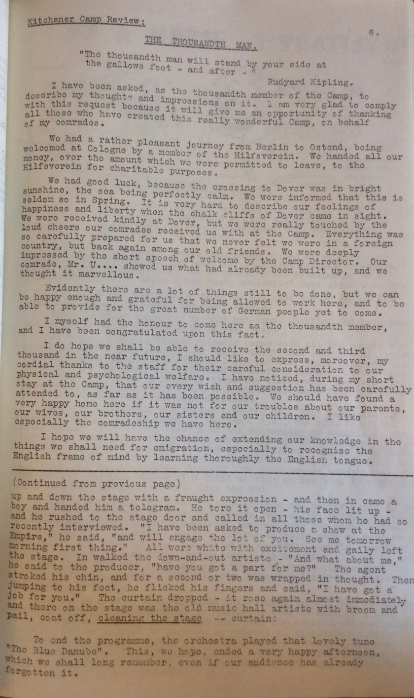 Kitchener Camp Review, June 1939, page 5