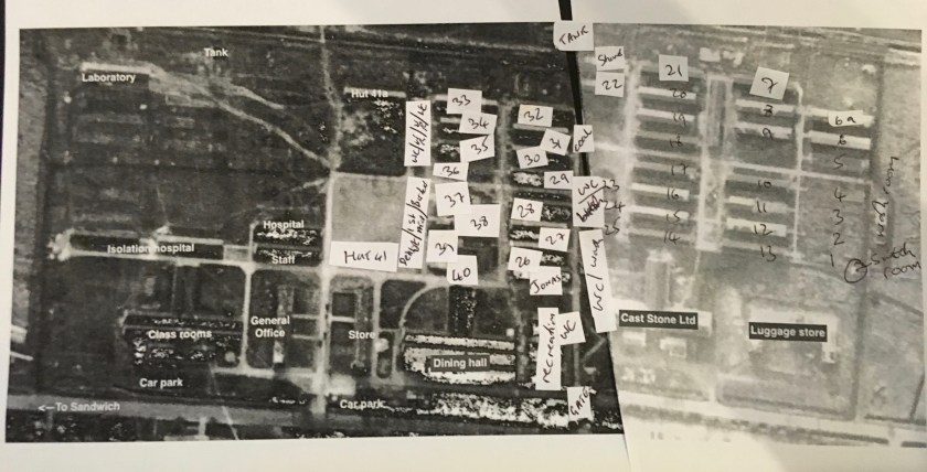 Kitchener Camp - overlaying Marmorek's plan onto an aerial map photographed in 1940