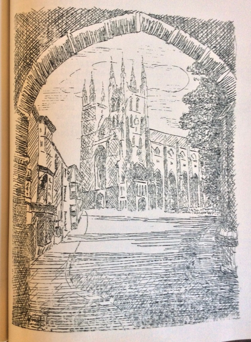 The Kitchener Camp Review, August 1939, Drawing, Canterbury cathedral, page 10