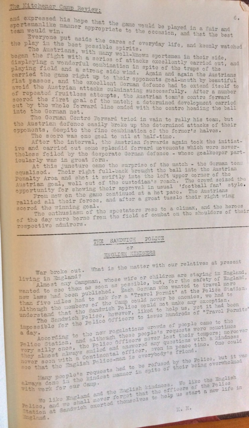 Kitchener Camp Review, November 1939, page 6