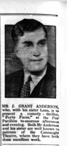 Kitchener camp entertainment, J Grant Anderson, The Herald, 21 April 1939, Source: www.britishnewspaperarchive.co.uk