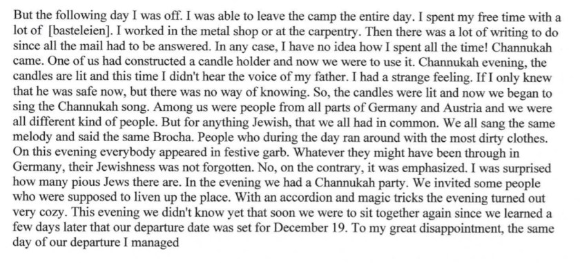 Kitchener camp, Diary, Gerhard Wolf, Berlin ORT, page 8
