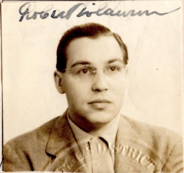 Robert Mildwurm, Photograph from US Naturalization Certificate, 23 July 1945