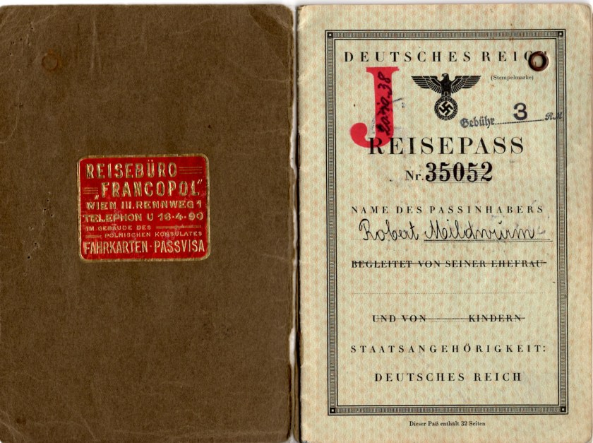 Kitchener camp, Robert Mildwurm, Deutsches Reisepass, German passport, J,