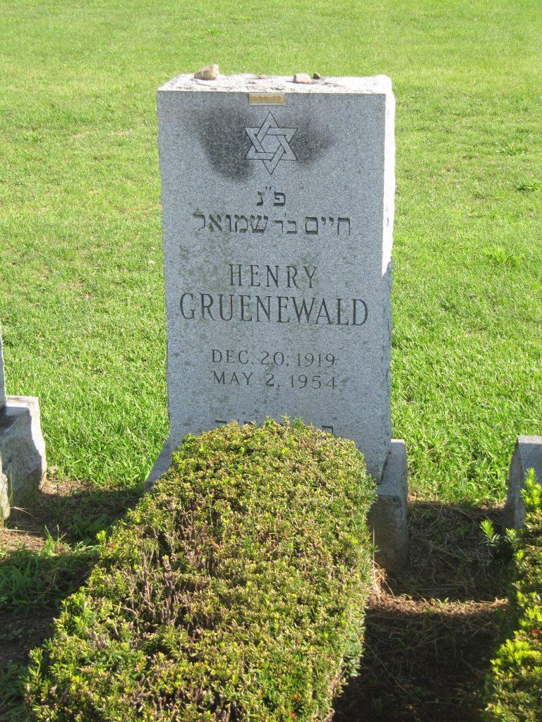 Kitchener camp, Heinz Grünewald, Cedar Park Cemetery in Paramus, New Jersey, August 2016