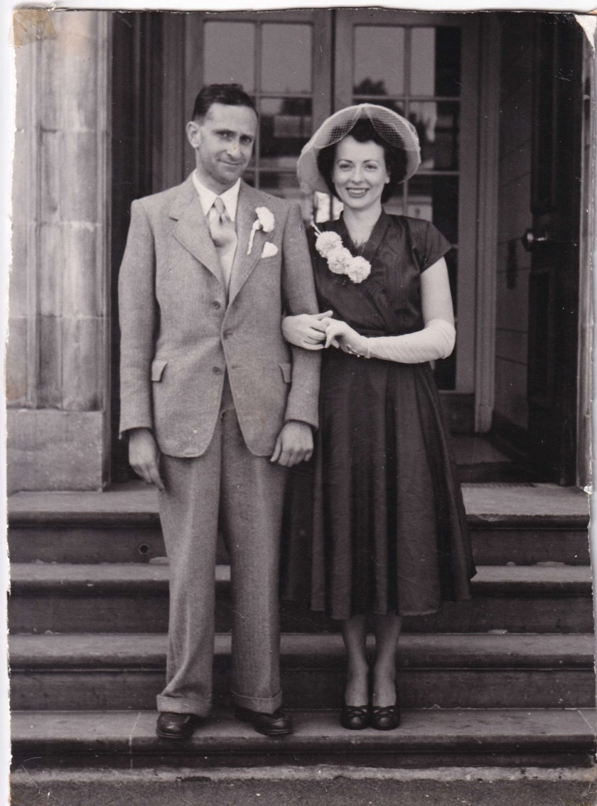 Kitchener camp, Ernst Pories and wife, 1950