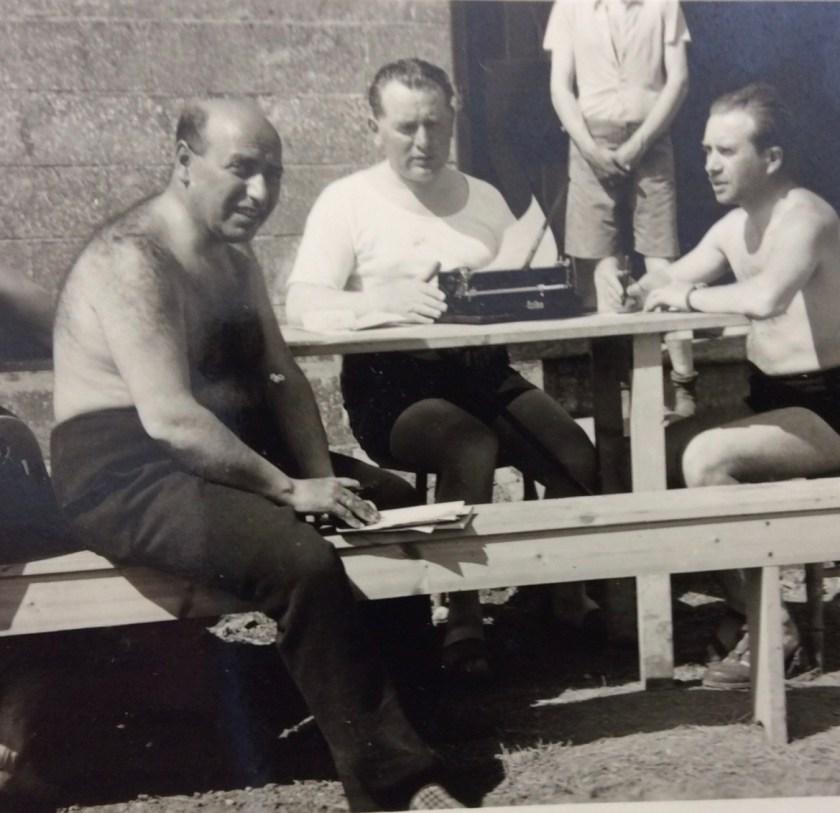 Kitchener camp, Julius Gildener, with brother-in-law Arnold Vogel