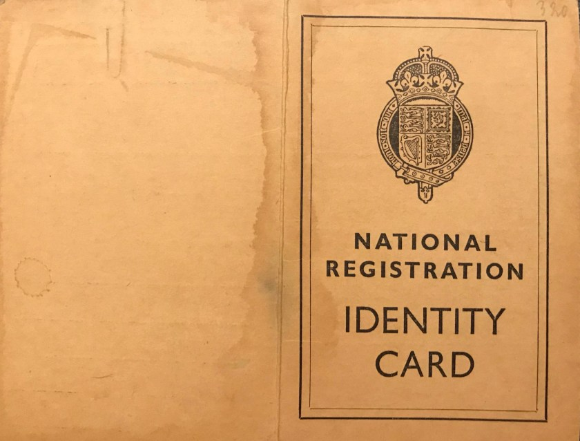 Richborough transit camp, Karl Reiser, National Registration ID Card, cover