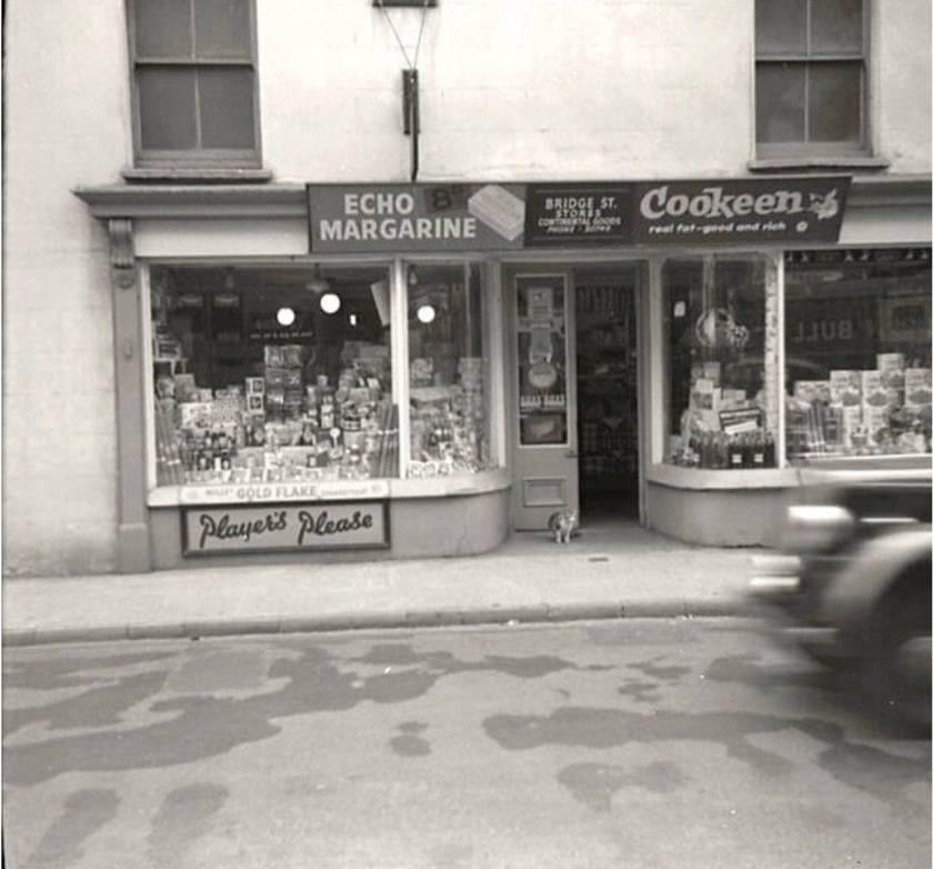 Ignatz Salamon, Family shop in Cardiff, 1949