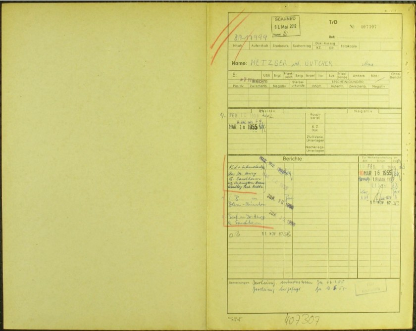 Kitchener camp, Richborough, Max Metzger, ITS Documents from the Wiener Library, Finding form