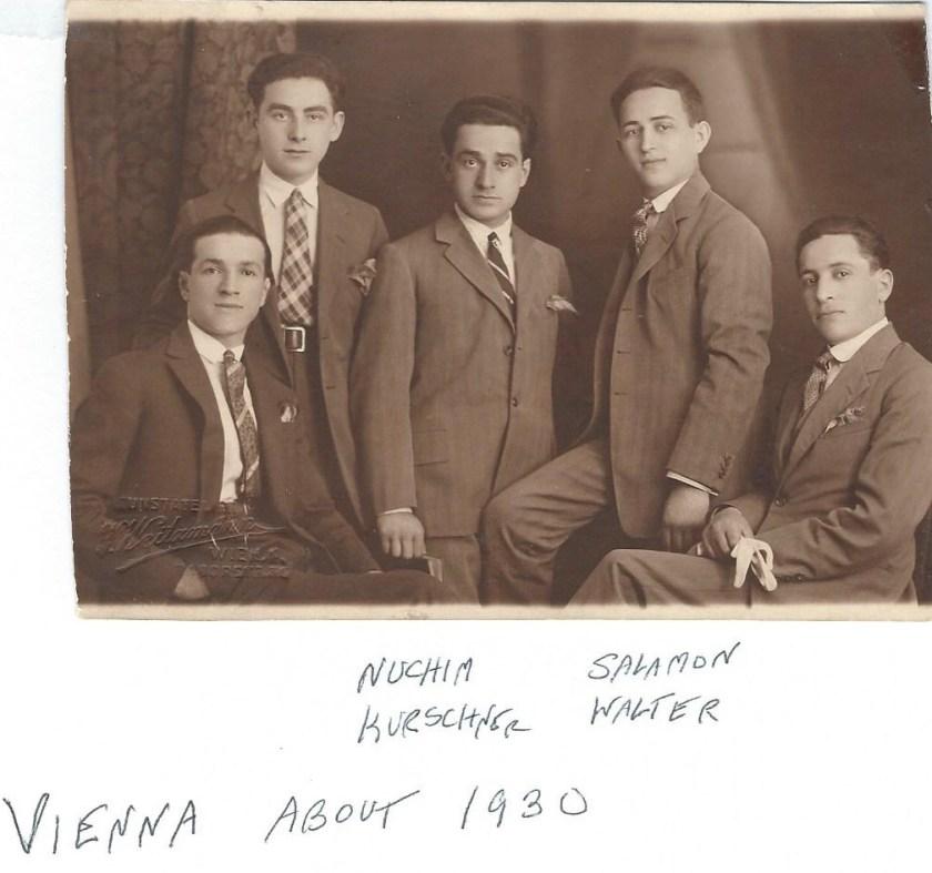 Nuchim Kurschner with Salamon Walter, Vienna 1930