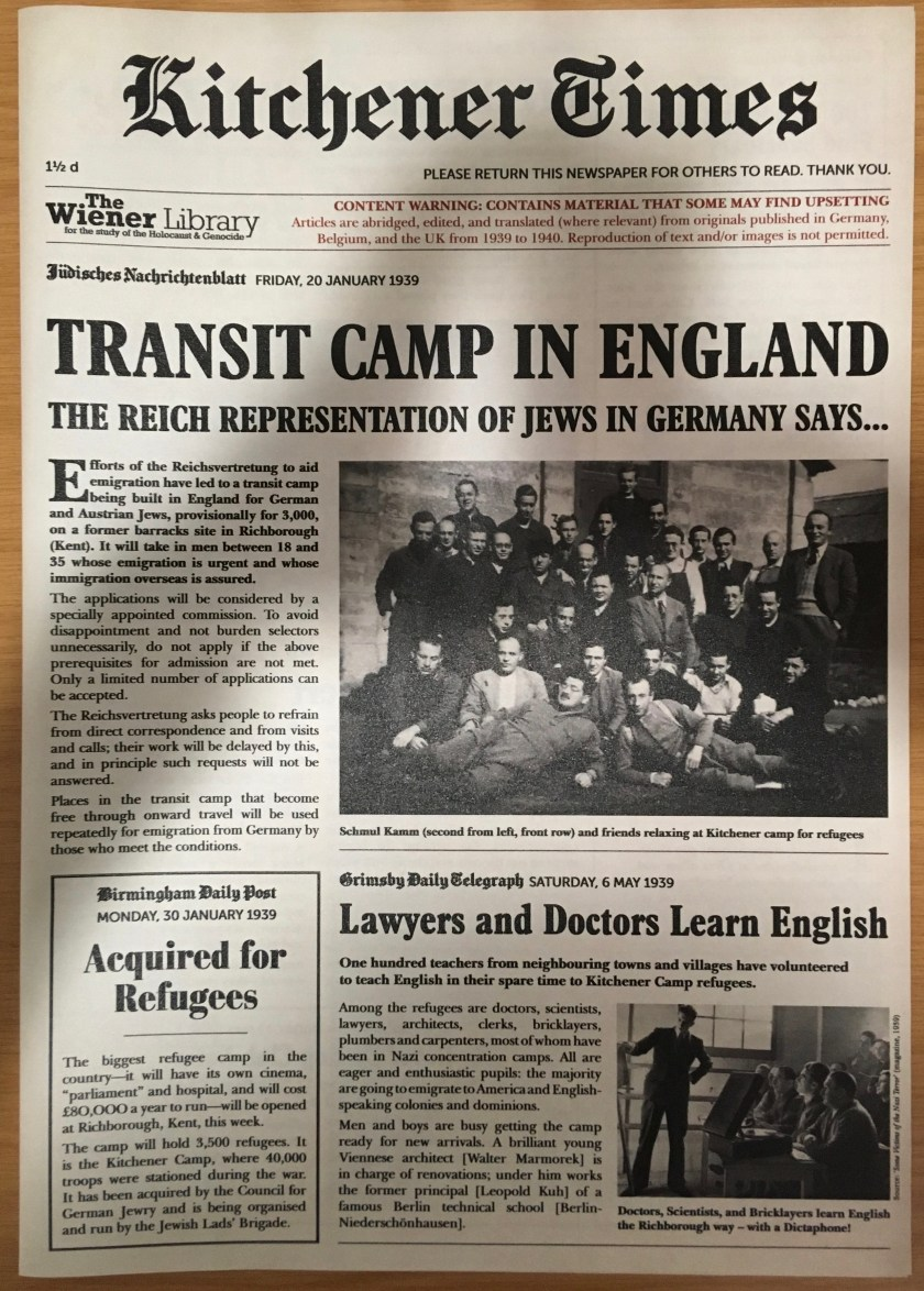 Leave to Land - The Kitchener News, page 1