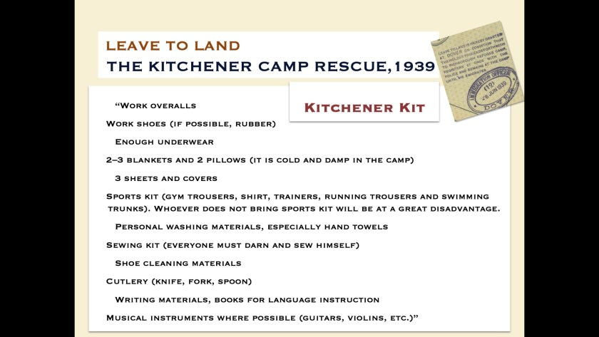 Kitchener camp kit - digital slides from the Leave to Land exhibition, 2019, page 3