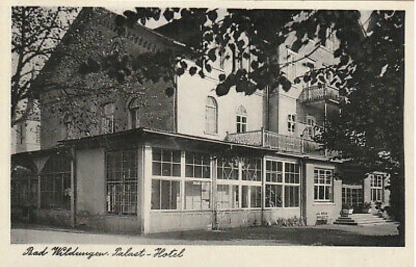 Hugo Heilbrunn, Bad Wildungen Palast Hotel, 1952