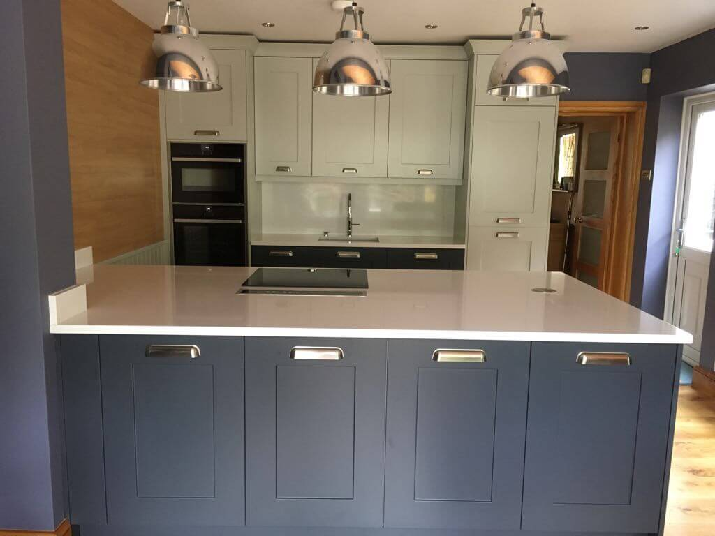 Charcoal And Partridge Grey Shaker Kitchen Fitted In