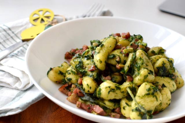 bacon and spinach gnocchi