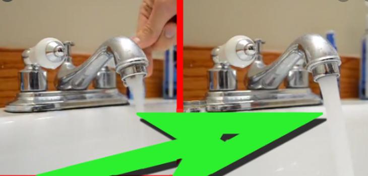 repair low pressure in a kitchen faucet
