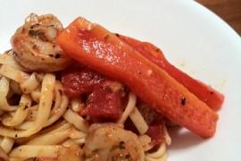 kitchen frolic | linguine shrimp for two