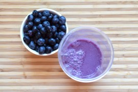 blueberry vanilla yogurt smoothie