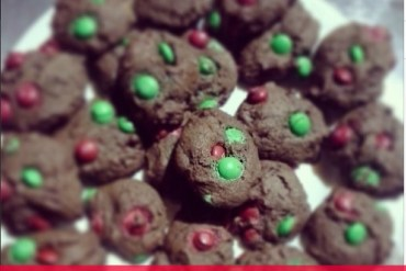 triple chocolate sour cream cookies