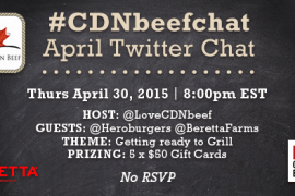 Canadian Beef Twitter Party - April 30, 2015