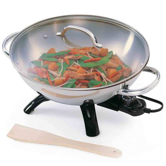 electric wok stainless steel