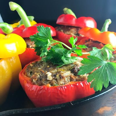 Bison Stuffed Bell Peppers