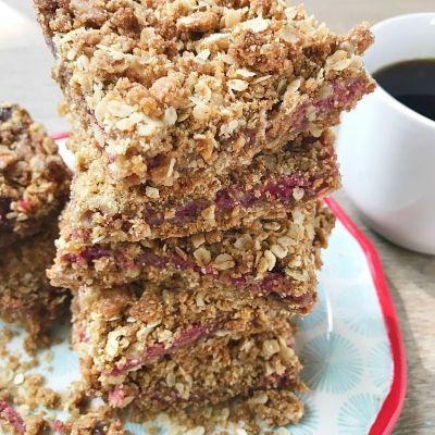Gluten-Free Raspberry Oatmeal Bars