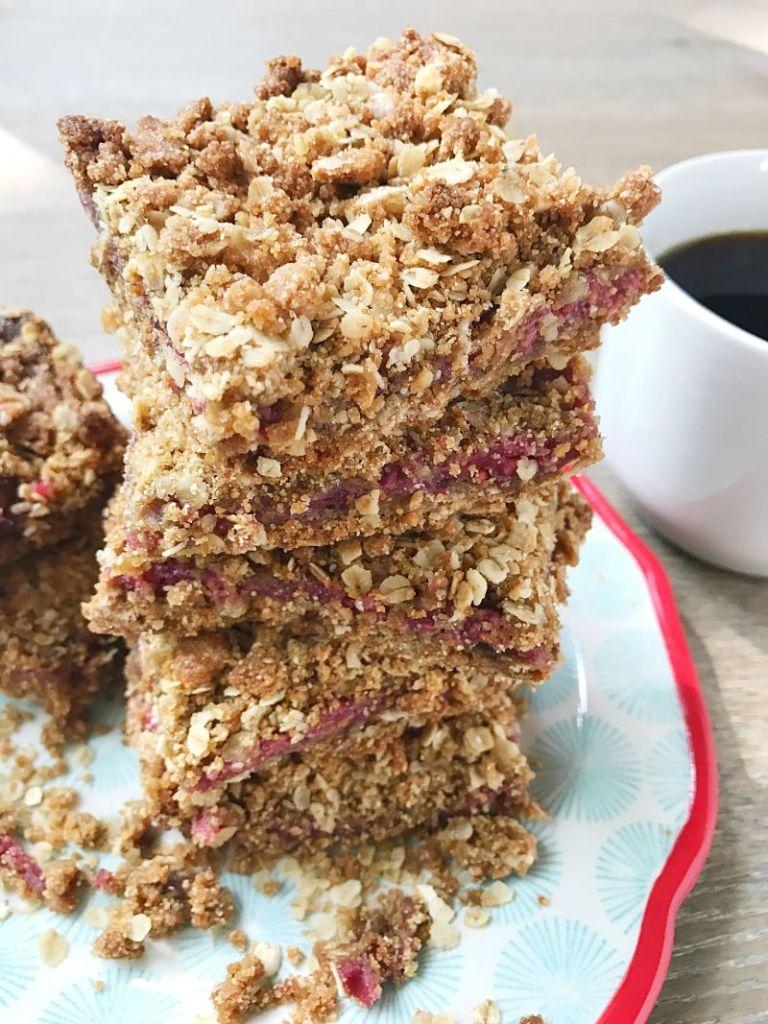 Gluten-Free Ras[berry Oatmeal Bars