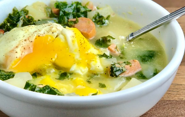 Potatoe Kale Chicken Sausage Soup