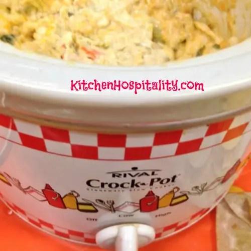 Mini Crockpot with Dip