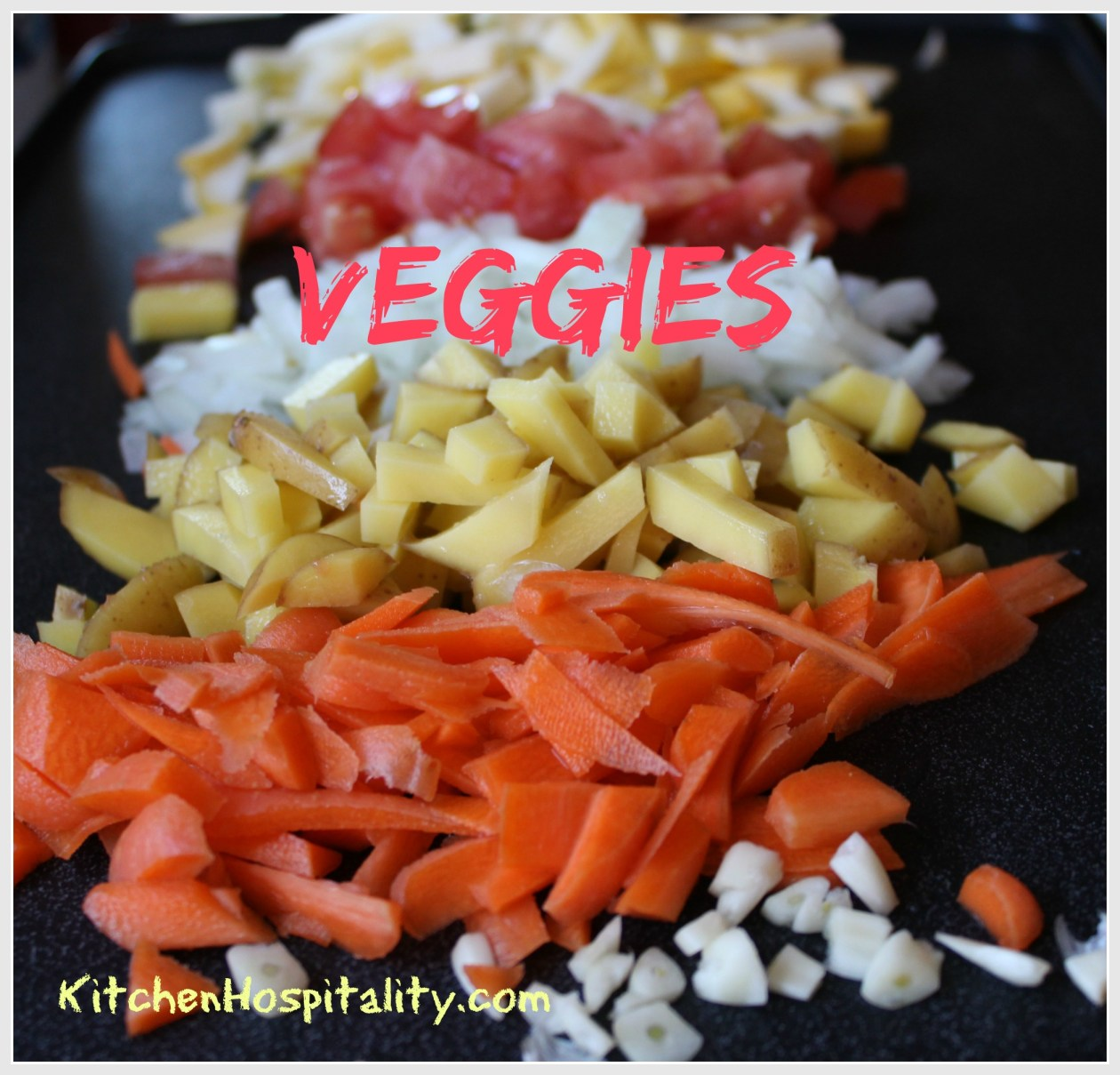 veggies on the griddle