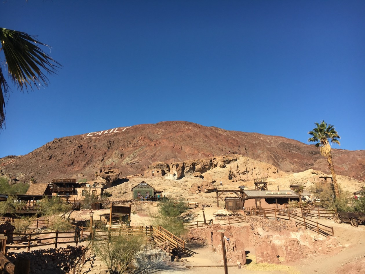 Old West mining town