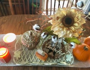 Fall and Cotton Season Tablescape