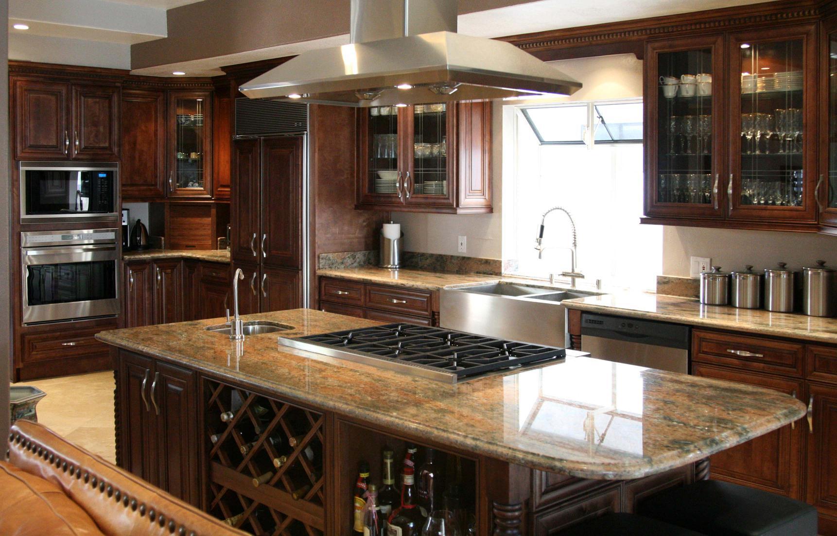 Kitchen Image - Kitchen & Bathroom Design Center on Dark Maple Cabinets  id=57739