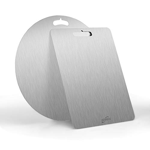 304 Stainless Steel Fruit Cutting Board for Kitchen Dishwasher Safe,Chopping Boards Metal, Fit Butcher Block for Meat Cheesevegetables 1575