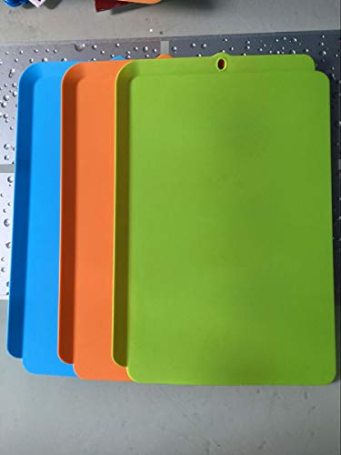 Cutting Board Set 3 Pcak Plastic Cutting Board Prevent slipping out of the cutting board,Non-slip Chopping Board with Stand,BPA-Free Non-Porous Dishwasher Safe