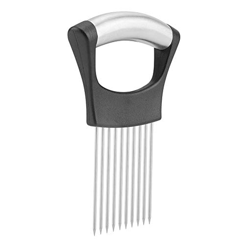 Onion Holder Stainless Steel Potatoes Fruits Vegetables Meat Slicer Peeler Chopper for Kitchen Tool Gadget with 10 Prongs