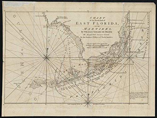Imagekind Wall Art Print Entitled Vintage Map of The Florida Keys 1771 by Alleycatshirts Zazzle  15 x 11