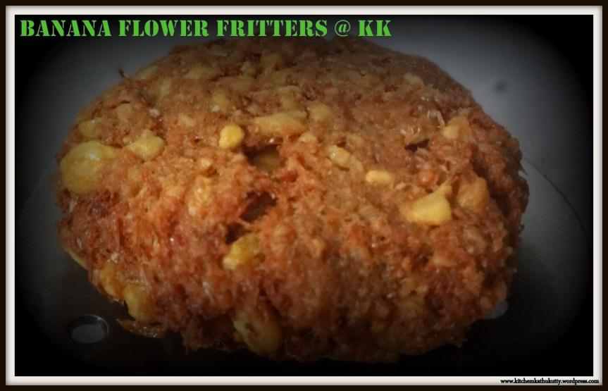 Vazhaipoo Vadai|Plantain/Banana Flower fritters