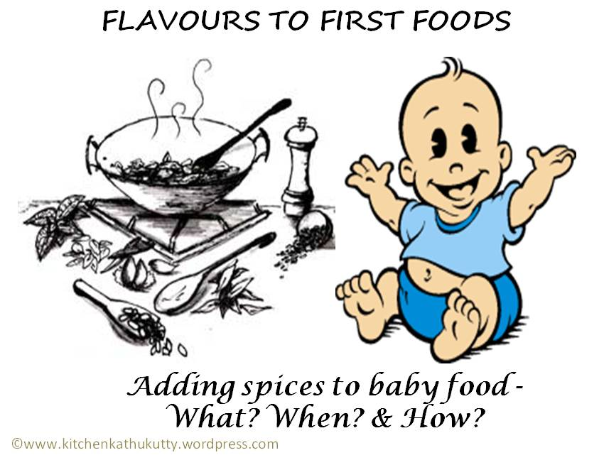 Adding spices to baby food