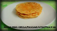 Moong dhal chilla