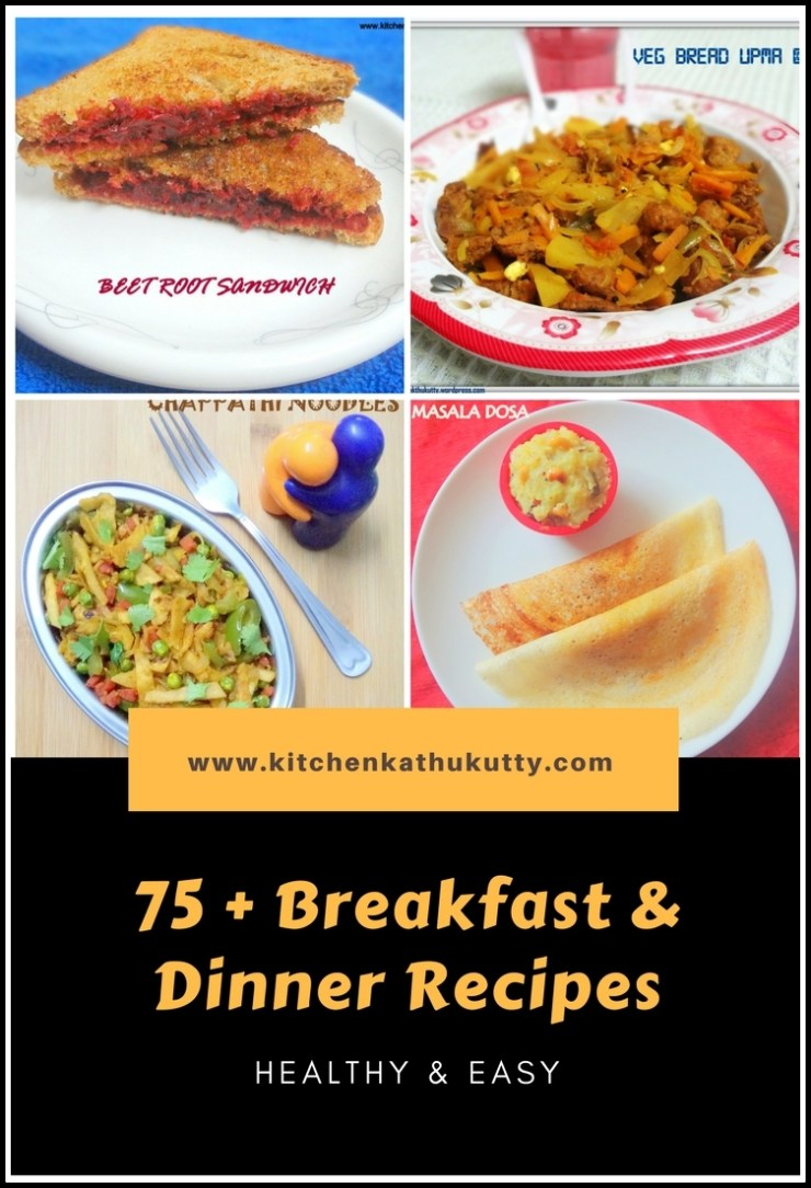 Breakfast and dinner recipes
